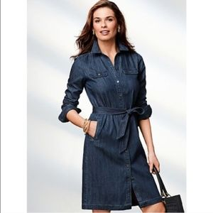 Talbots denim tunic shirt dress NWOT